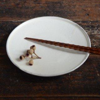 小山乃文彦 粉引7寸平皿
