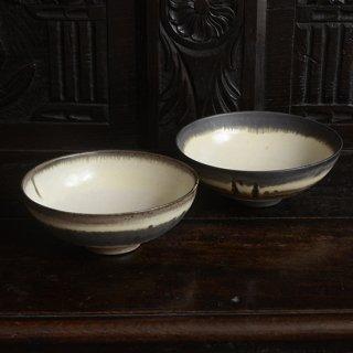 金澤尚宜 三彩6寸鉢(墨)