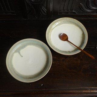 金澤尚宜 青緑7寸皿