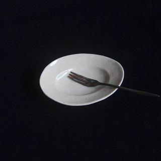 林拓児 貫入楕円豆皿