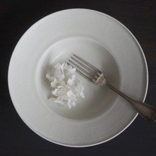 土井善男 緑白釉8寸リム鉢