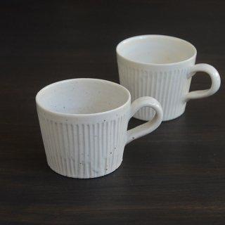 竹下努 白磁鎬マグカップ