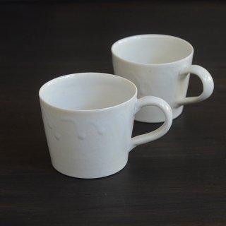 竹下努 白磁マグカップ