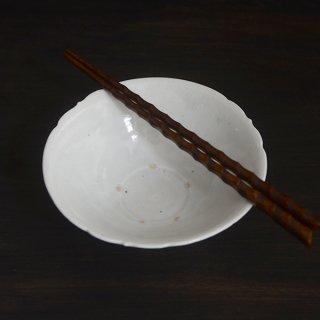 竹下努 青白磁三ツ稜花平鉢