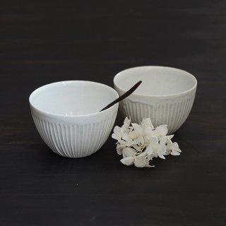 竹下努 青白磁鎬深小鉢