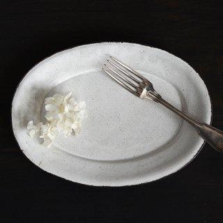 戸田文浩  彩陶だ円リム皿 L