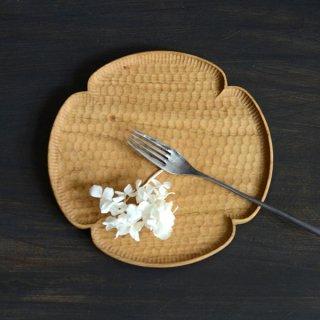 高塚和則 花形パン皿 中