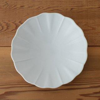 土井善男 乳白6寸輪花皿 径18cm 高さ3cm