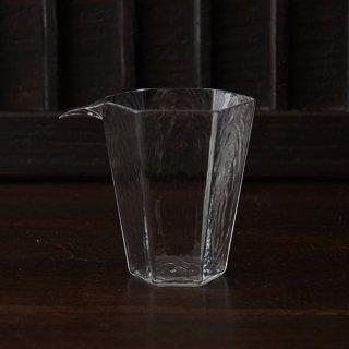 小林裕之・希 六角片口(M型) クリア 径8cm 高さ9.5cm