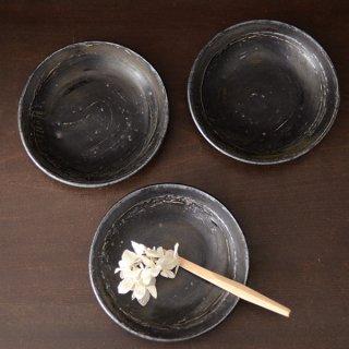 増田勉 刷毛目黒 小皿 13cm 高さ2.5cm