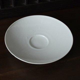 土井善男 乳白釉7.5寸平鉢 径23cm 高さ4cm
