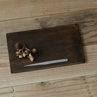 土田和茂 板皿4寸×7寸 黒