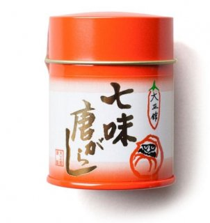 大正館 七味唐辛子 12g 缶入り