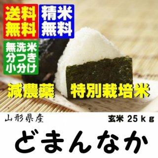 山形県飯豊町産 特別栽培米どまんなか玄米25kg