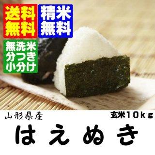 30年産山形県産はえぬき 玄米10kg 精米・送料無料