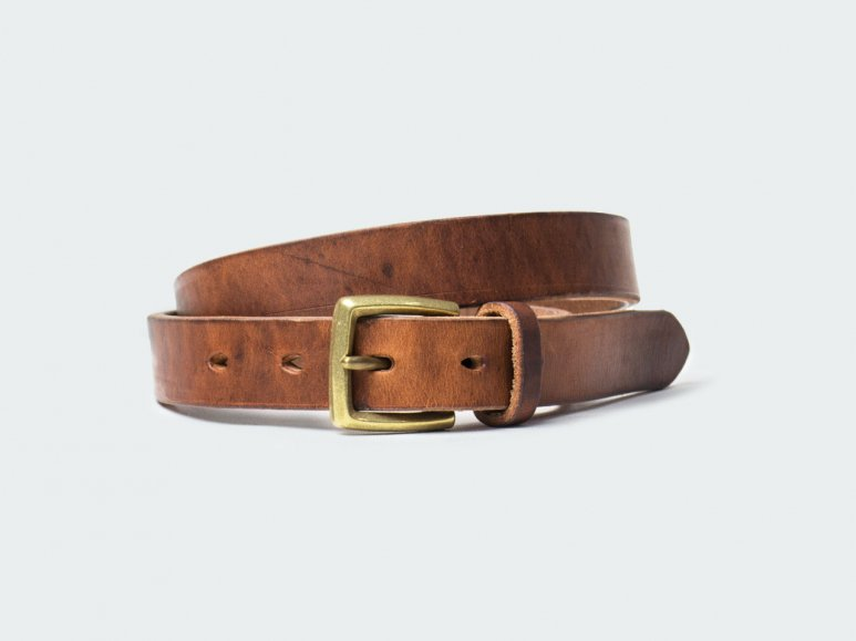 SOLID BELT AMERICAN STEER HYDE 26 / BROWN