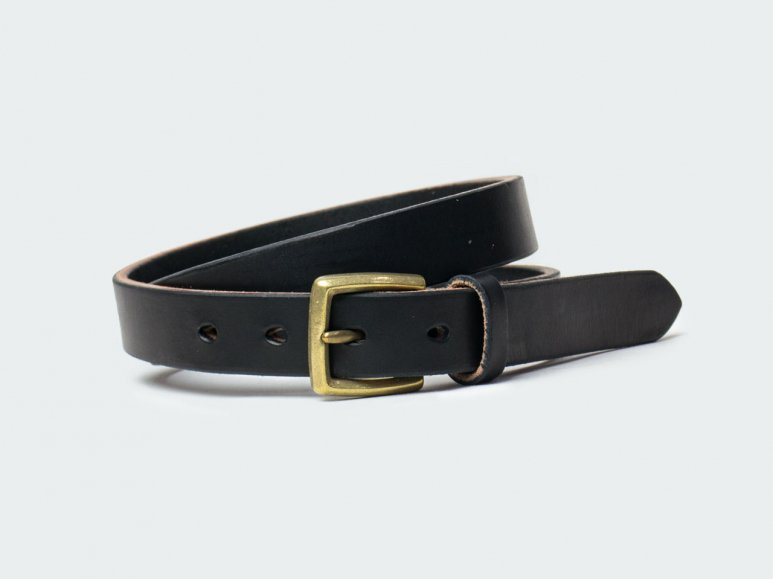 SOLID BELT AMERICAN STEER HYDE 26 / BLACK