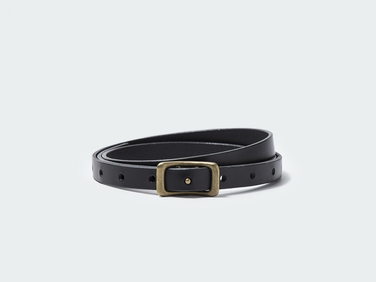 NARROW NAVEL BELT 15 / BLACK