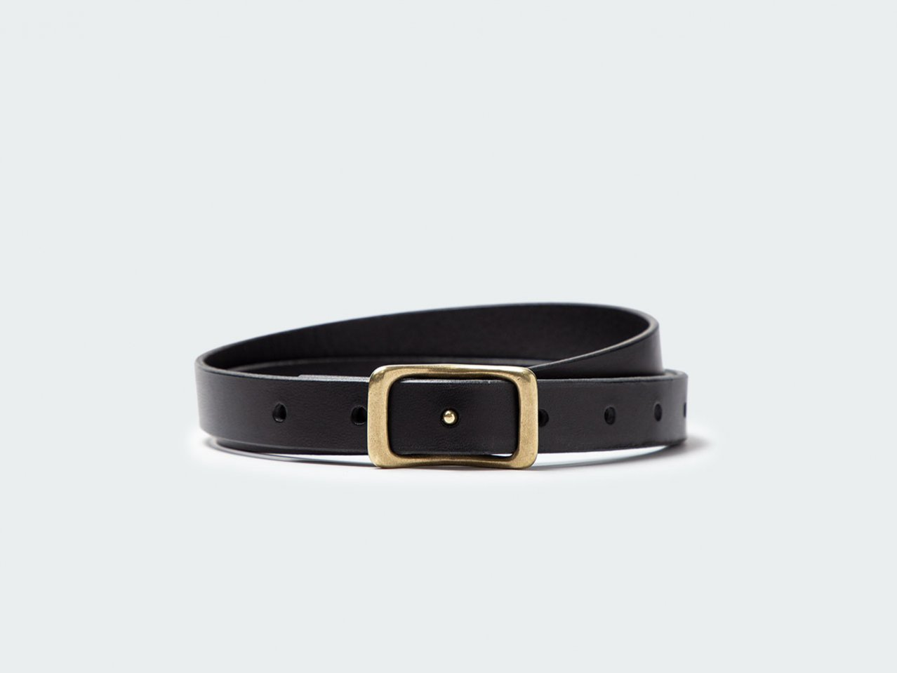 NARROW NAVEL BELT 22 / BLACK