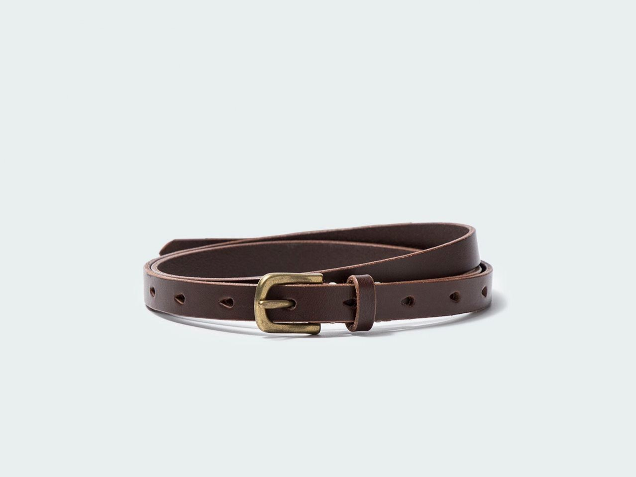 NARROW STANDARD BELT 15 / DARK BROWN