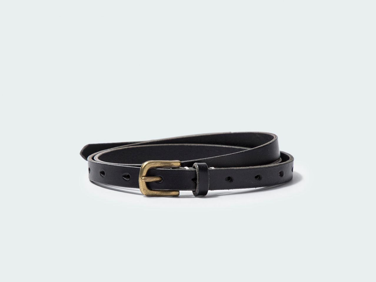 NARROW STANDARD BELT 15 / BLACK