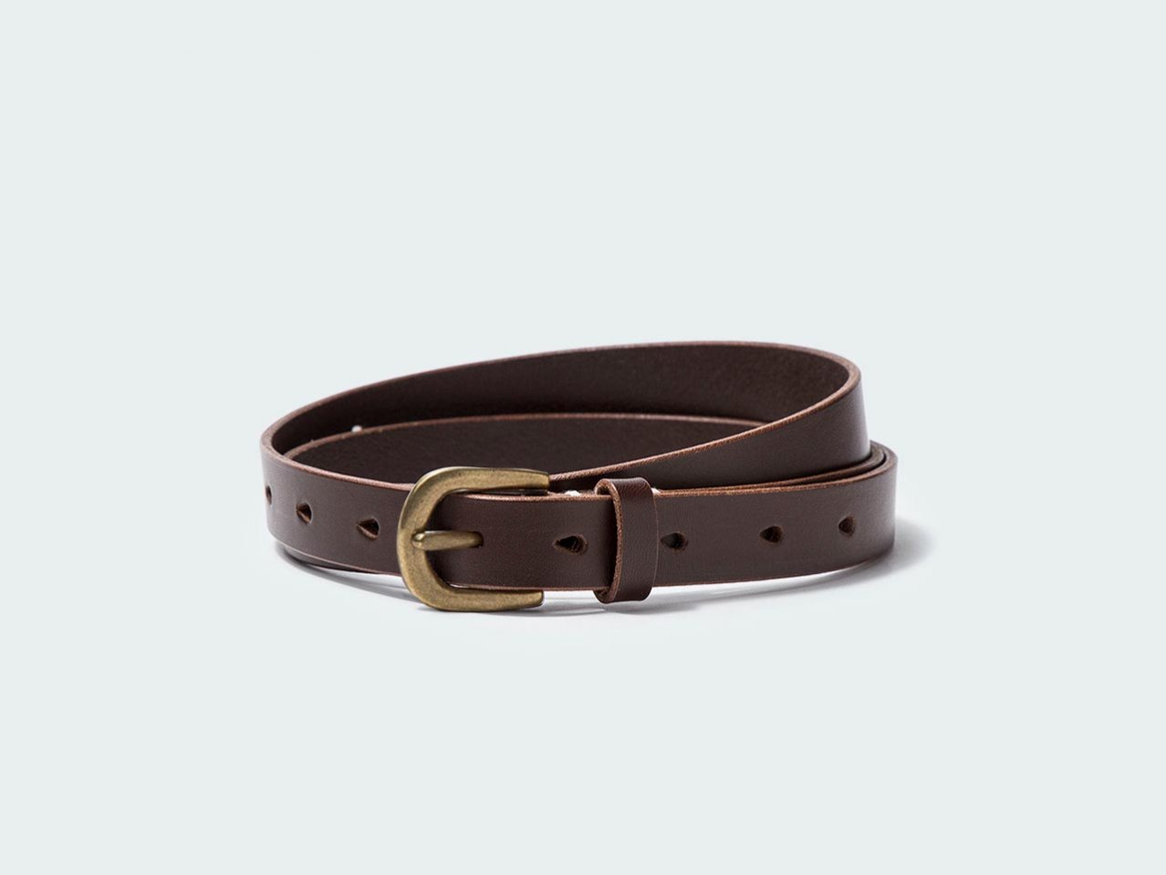 NARROW STANDARD BELT 20 / DARK BROWN