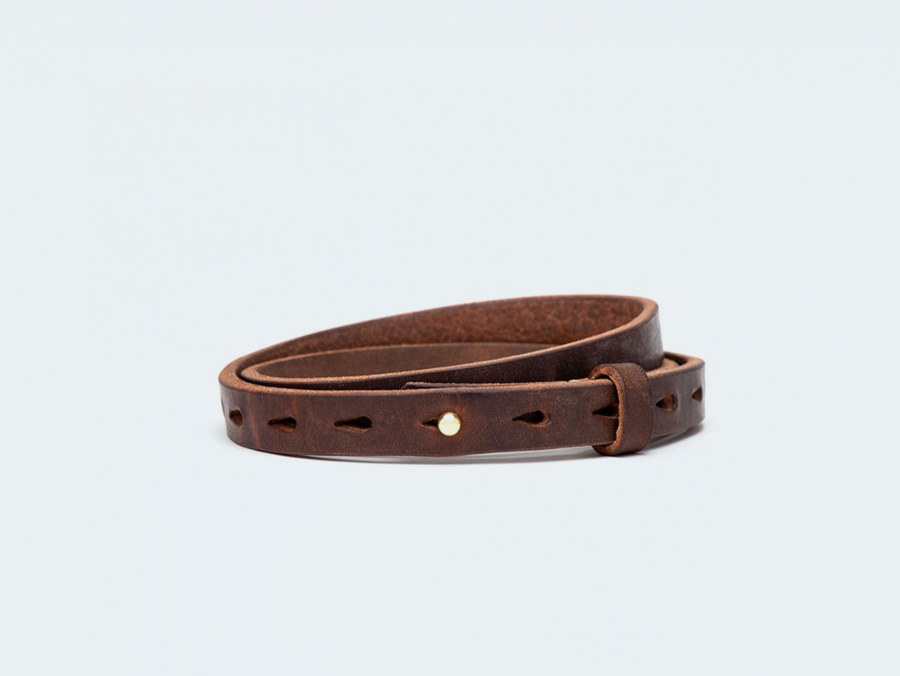 HN BUTTON / DARK BROWN