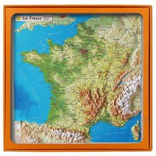 フランス3Dマップ[フランス全土] ポストカードUV201PC付 UR100MP