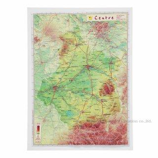 フランス3Dマップ(立体地図)[中央ロワール地方(ベリー地方)]ワインポストカードUV209PC付 UR108MP