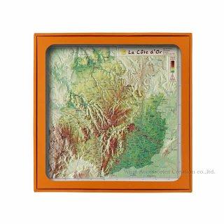 フランス3Dマップ(立体地図)[コート・ドール(ブルゴーニュ中心部)]ワインポストカードUV211PC付 UR110MP
