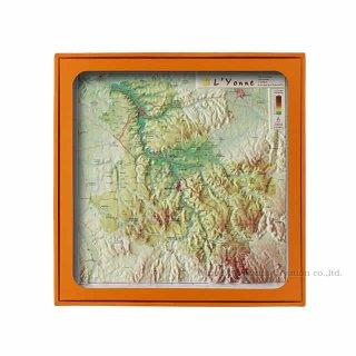 フランス3Dマップ(立体地図)[ヨンヌ(ブルゴーニュ北部)]ワインポストカードUV205PC付 UR111MP