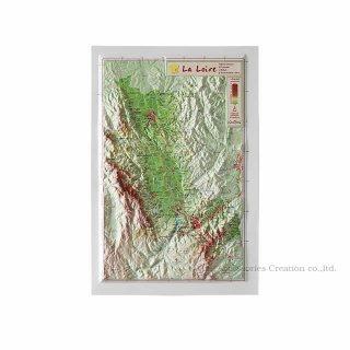 フランス3Dマップ(立体地図)[ロワール(ローヌ・アルプ〜オーヴェルニュ)] UR112MP