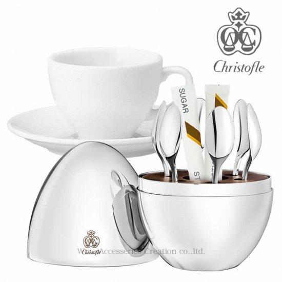 クリストフル MOOD COFFEE(ムードコーヒー) ティースプーン6ピースセット  【正規品】 CHR636SV