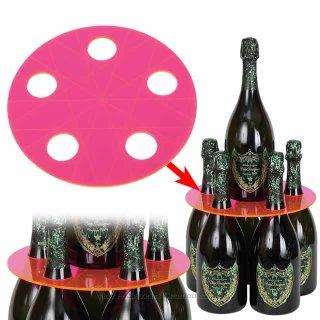 【受注生産】【代引き決済不可】シャンパンタワープレート 蛍光ピンク(ボトルのタワー化プレート)RJ153RE
