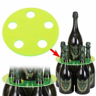 【受注生産】【代引き決済不可】シャンパンタワープレート 蛍光グリーン(ボトルのタワー化プレート)RJ153GR