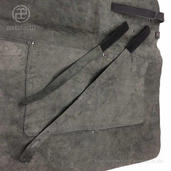 カッツァ アーティファクト 本革製タブリエ ロング(胸付)ブラック トーションHJ010WH付き HB003BK