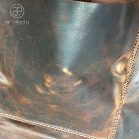 カッツァ アーティファクト 本革製タブリエ 腰巻ロング ブラウン トーションHJ010WH付き HB002BR