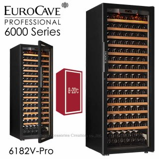 ユーロカーブ 6000シリーズ 1温度帯 CS棚仕様 182本用 フルガラス扉 6182V【CPC】