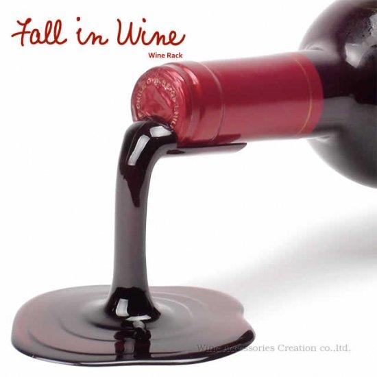 フォール イン ワイン ボトルホルダー レッド  RK001RE