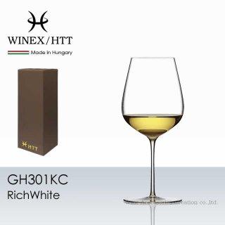WINEX/HTT リッチホワイト グラス 1脚【正規品】 GH301KC