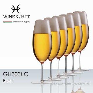 WINEX/HTT ビアー グラス 6脚セット【正規品】 GH303KCx6