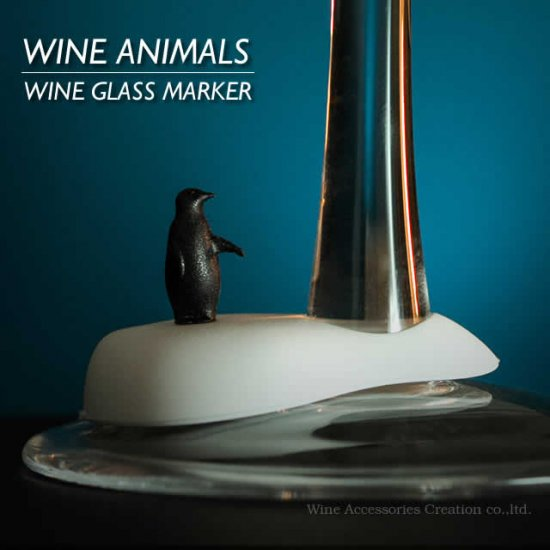 ワインアニマル COOL クール グラスマーカー 6種類セット ZS832WA