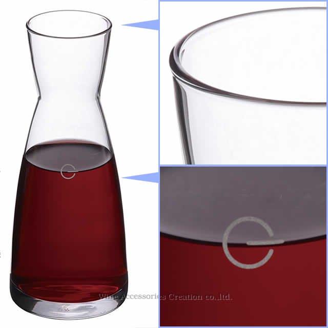 フェア(目盛り付き)テイスティンググラス2脚+デキャンタ セット QGF800AA