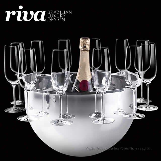 Riva ボッテガ シャンパンバケット グラスホルダー(12脚)付 ND400ST