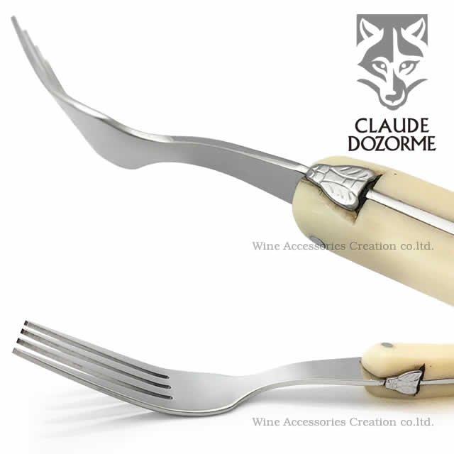 ドゾルム ラギオール ナイフ&フォークセット ホワイト TD400-500WH