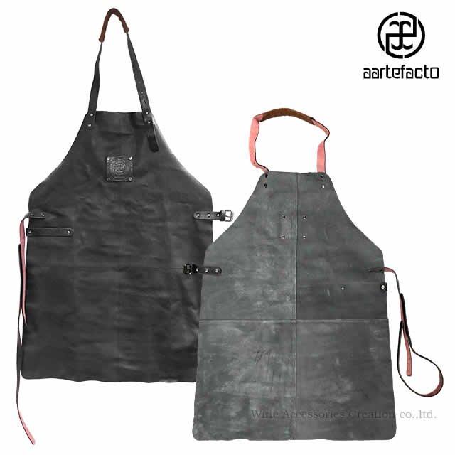 カッツァ アーティファクト 本革製タブリエ ロング ブラック トーションHJ010WH付き HB004BK