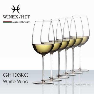 WINEX/HTT ホワイトワイン ワイングラス 6脚セット【正規品】 GH103KCx6