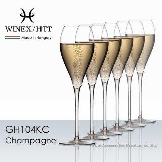 WINEX/HTT シャンパーニュ グラス 6脚セット【正規品】 GH104KCx6
