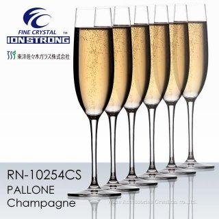 東洋佐々木 ファインクリスタル イオンストロング パローネ シャンパン 6脚セット reziグラスクリーニングクロスZG414BL付【正規品】 RN-10254CSx6