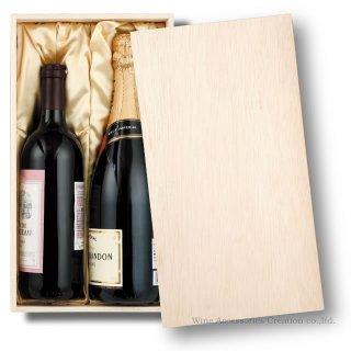 贈答用木箱布張り ワイン1本用 XJ240WD